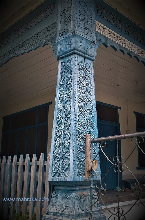 Chitrali traditional wood carving in mosques